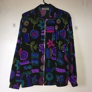 Teddi multiple cool color design jacket no tags